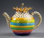 Horizontal stripe teapot